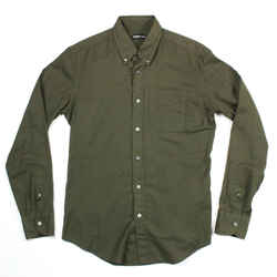 Tom Ford - Green Shirt - Long Sleeve Button Down Collared - Olive - Medium - M