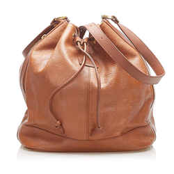 Vintage Authentic Burberry Brown Calf Leather Bucket Bag UK