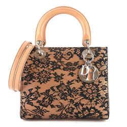 Lady Dior Medium Lambskin and Floral Lace Handbag