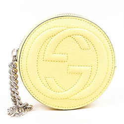 Gucci Children's Soho Pouch Yellow Leather GG