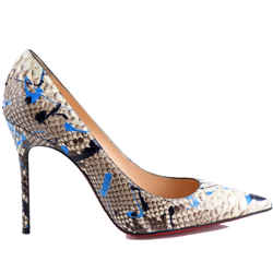 """Christian Louboutin So Kate Pointed Toe Python """"vulcano"""" 100 Painted Multicolor Pumps"""