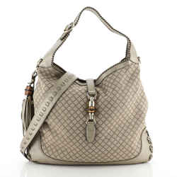Gucci New Jackie Bag Diamante Canvas Medium