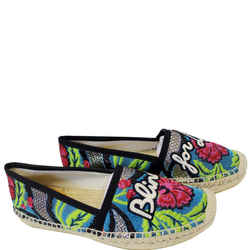 Gucci Embroidered Blind For Love Espadrilles Flat Multicolor Us 6