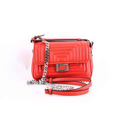 """Fendi Micro Double Baguette Quilted Leather Chain Shoulder Bag 7""""L x 5""""H x 3""""W"""