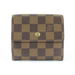 Louis Vuitton Damier Ebene Elise Compact Snap Wallet 366lvs525