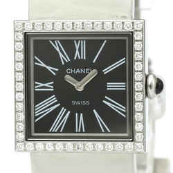 Polished CHANEL Mademoiselle Diamond Steel Quartz Ladies Watch H0875 BF519287