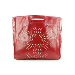 Chanel Red Perforated CC Logo Tote bag 339ccs224