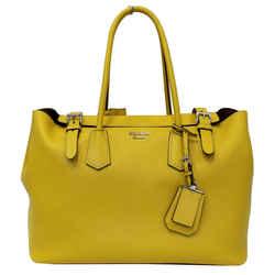 Prada City Calf Buckle Tote Bag Yellow