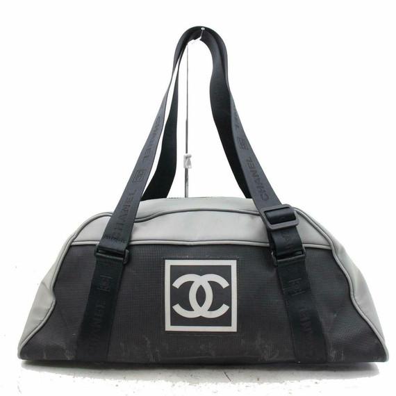 Chanel Bicolor Sports Duffle Boston 870706