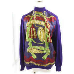 Hermes Size 40 Purple Cashmere x  Silk Sweater Blouse 862212