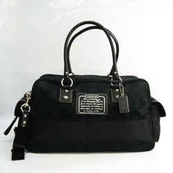 Coach Signature F77179 Unisex Leather,Canvas Boston Bag,Shoulder Bag Bl BF532297