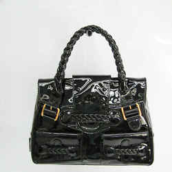 Valentino Garavani Women's Patent Leather Handbag Black BF527071