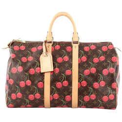 Louis Vuitton Murakami Monogram Cerises Cherry Keepall 45 Duffle Bag 387lvs527