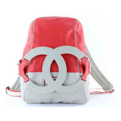 Chanel Ultra Rare XL CC Logo Sports Backpack Red Grey 859575