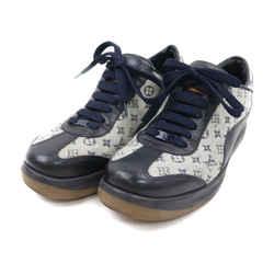 Louis Vuitton Women's 36 Navy Monogram Mini Lin Sneaker 863492