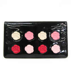 Chanel Camellia Makeup Palette A46074 Women's  Patent Leather Long Wall BF524971