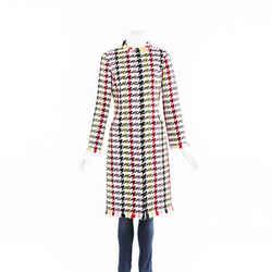 Oscar de la Renta Mulberry Tweed Jacket SZ 4