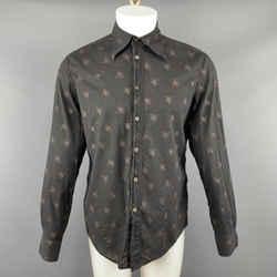 Maison Martin Margiela Size M Cotton Black & Beige Long Sleeve Shirt