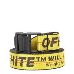 Off-White New Off-white Yellow Black Nylon Mini 2.5 Industrial Buckle Belt