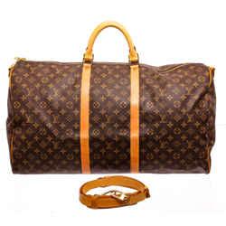 Brown Louis Vuitton Keepall Bandouliere 60 Travel Bag