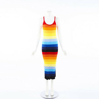 Chinti and Parker Rainbow Pointelle Knit Dress SZ XS
