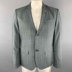 Marc By Marc Jacobs Size 42 Dark Gray Stripe Wool Notch Lapel Sport Coat