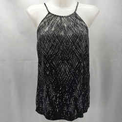 Joie Black Printed Tank Large