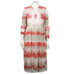 Valentino Red - New - 2019 Maxi Dress - Red Floral Wispy Neck Tie - Us 0 - 38