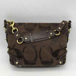 Coach Brown Monogram Shoulder Bag