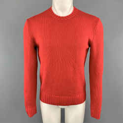 Ralph Lauren Polo Size S Red Knitted Cashmere Crew-neck Pullover Sweater