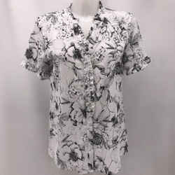 Karl Lagerfeld White Printed Blouse Small