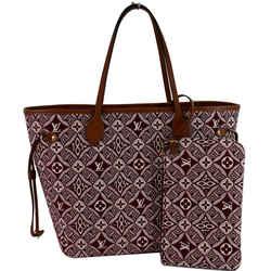 LOUIS VUITTON Neverfull MM Since 1854 Jacquard Shoulder Bag Bordeaux Red