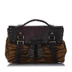 Brown Mulberry Alexa Ponyhair Satchel Bag
