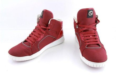 Gucci Red Canvas Rebound Mid High Top