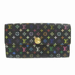 Auth Louis Vuitton Louis Vuitton Multi Portofeuil Sara Long Wallet Noir Black M9
