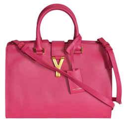 Saint Laurent Ysl Bag Ligne Y With Macho Fushia Leather Handbag 311210