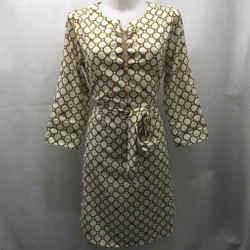 Michael Kors Yellow Printed Dress Medium