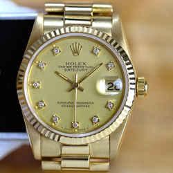 Rolex Midsize Factory Diamond Dial President Watch-ALL FACTORY