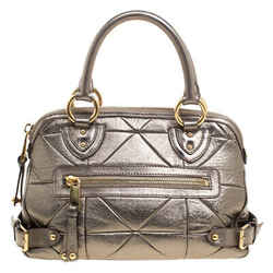 Marc Jacobs Gold Quilted Leather Satchel
