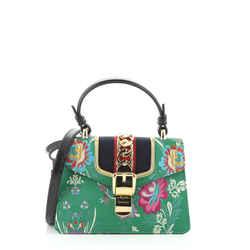 Sylvie Top Handle Bag Brocade Mini