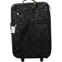 Chanel Black Nylon Graffiti Rolling Luggage Trolley Suitcase Carry-On  862126