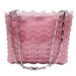 paco rabanne Translucent Flower Chain Pink Shoulder Bag