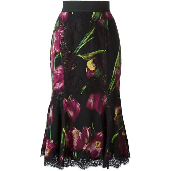 New Tulip Print Peplum Skirt