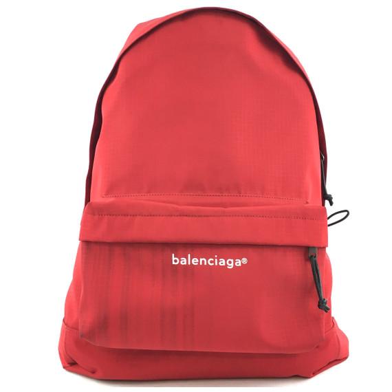 Balenciaga Explorer Backpack Red Nylon