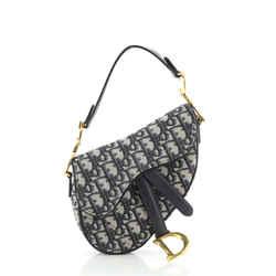 Saddle Handbag Oblique Canvas Mini