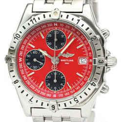 Polished BREITLING Chronomat Longitude Steel Automatic Watch A20048 BF534163