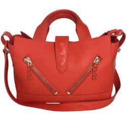 Kenzo Kalifornia Red Leather Shoulder Bag