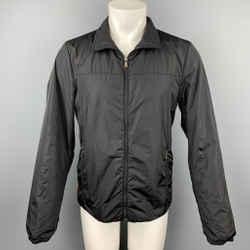 PRADA Size M Black Nylon Zip Up Jacket