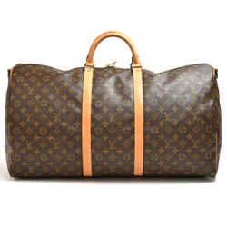 Vintage Louis Vuitton Keepall 60 Bandouliere Monogram Canvas Duffel Travel Bag LU445