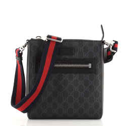 Web Strap Front Zip Messenger Bag GG Coated Canvas Small
